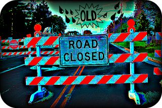 Old life road closed